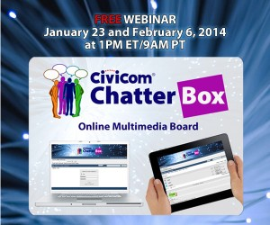 Civicom Chatterbox® Bulletin Board Webinars Scheduled for January and February