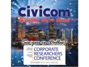 Civicom Speaks at the Corporate Research Conference 2012 in Dallas