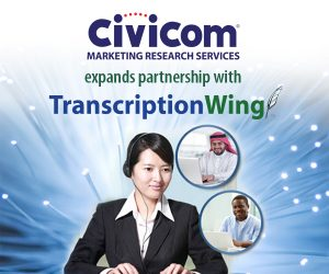 TranscriptionWing™ Expands Partnership with Civicom Marketing Research Services